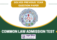 CLAT UG Previous Year Question Paper