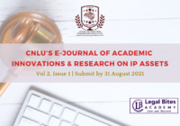 CNLU's E-Journal of Academic Innovations & Research on IP Assets