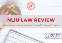 NLIU Law Review, Volume XI, Issue I