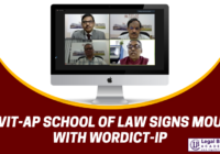 VIT-AP School of Law signs MoU with Wordict-IP