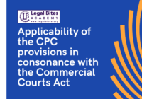 Applicability of the CPC provisions in consonance with the Commercial Courts Act