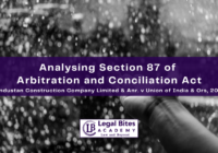 Section 87 of Arbitration and Conciliation Act