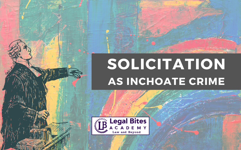 Solicitation As Inchoate Crime