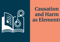 Causation and Harm as elements