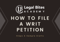 How to file a writ petition