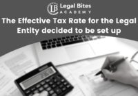 Effective Tax Rate for the Legal Entity