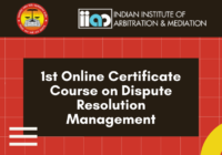 Online Certificate Course on Dispute Resolution Management