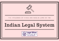 influence of Hindu and Muslim Laws on the Indian Legal System